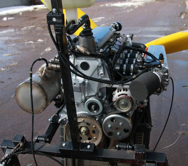 Honda Motorcycle With Fit Engine: Honda Fit Aircraft Engine