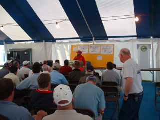Pilots' briefing...or old scouts' party? The weather was fine all the week so our briefings were full of enthusiasm.